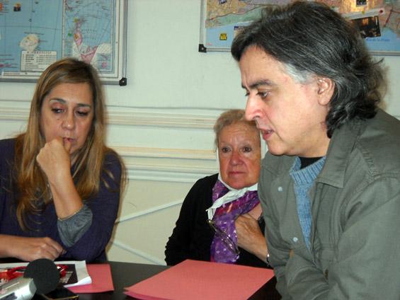Liliana Parada, Nora Cortiñas y Eduardo Macaluse