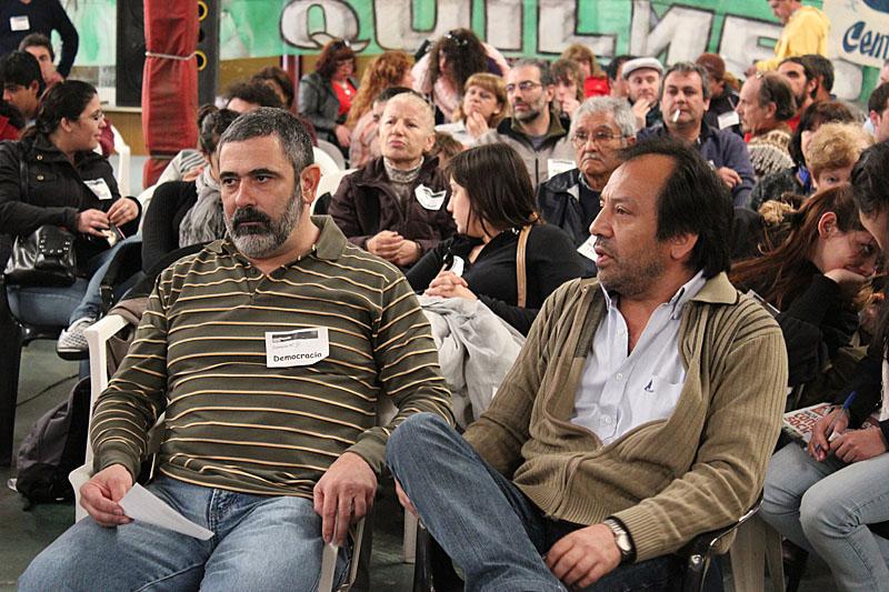 Walter Ornazabal, del SUTEBA Quilmes, y Carlos Chile, del MTL y candidato a secretario general de la CTA Capital