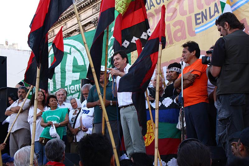 Fito Aguirre, secretario de Relaciones Internacionales de la CTA