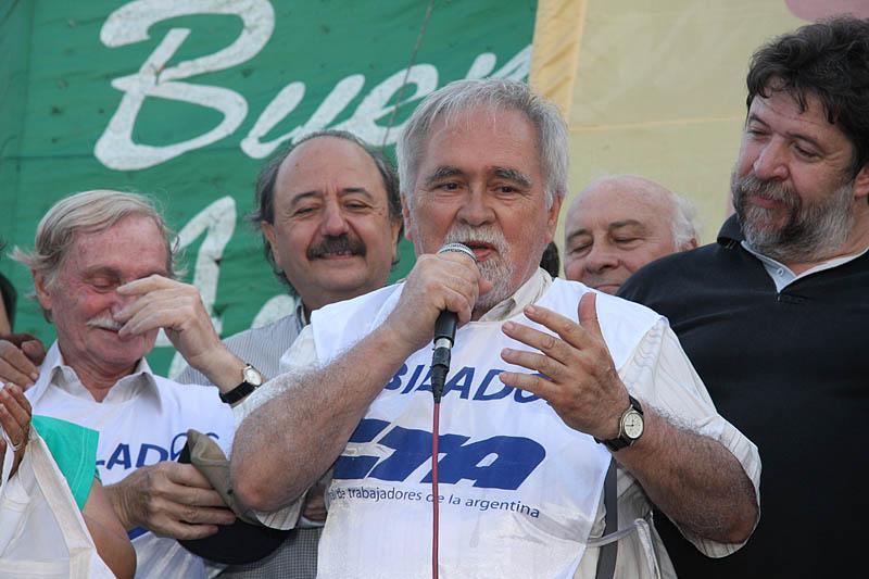 Elías Moure, de la Federación Nacional de Trabajadores Jubilados y Pensionados