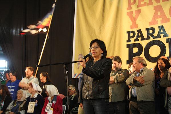Teresa Morales, del MAS boliviano, asesora de la constituyente en Bolivia